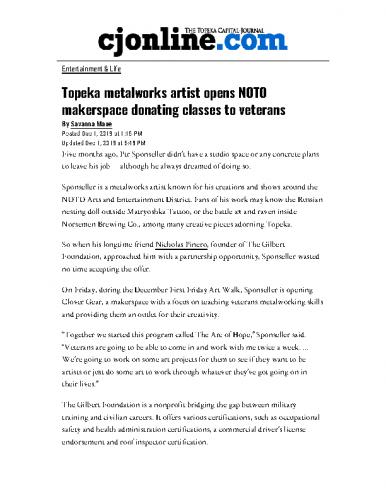 Topeka metalworks artist opens NOTO makerspace