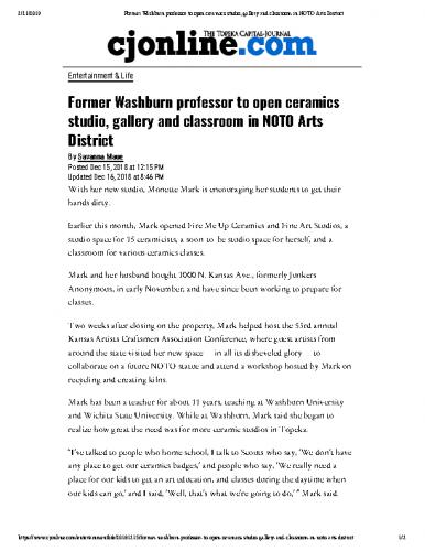 Former Washburn professor to open classroom in NOTO