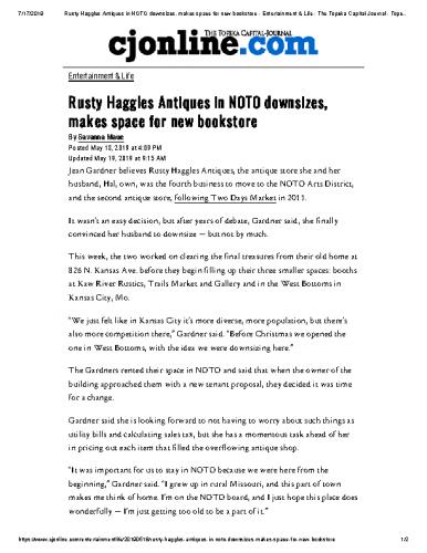 Rusty Haggles Downsizes