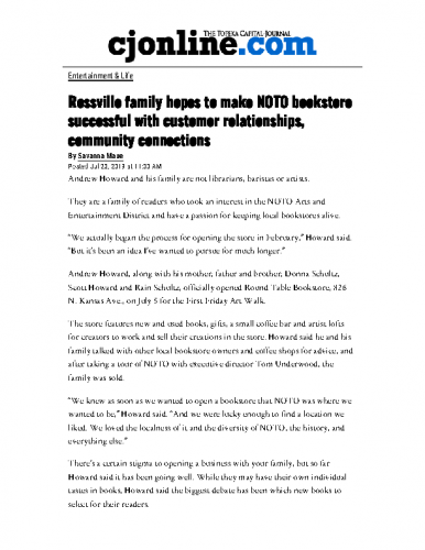 Rossville family hopes to make NOTO bookstore successful with customer relationships, community connections